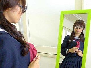 Azusa Misaki in uniform fucked at..