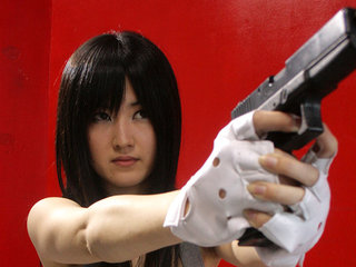 Shizuka Minami yells noisy in a crazy..
