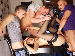Group sex porno activity for slim..